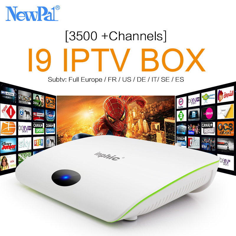SUB Caja IPTV Newpal Quad Core 4 K HD Set-top Box Smart Android TV Box Árabe Fra