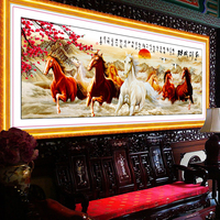 5d 8 horses diamond painting 3d wall stickers Diamond embroidery sets with their own hands pictures of diamonds partial layout
