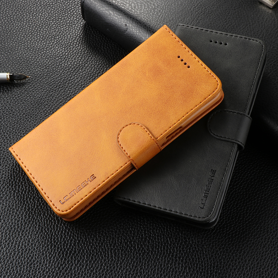 Retro Luxury <font><b>Leather</b></font> <font><b>Flip</b></font> <font><b>Case</b></font> For <font><b>iPhone</b></font> XS Max 6 6s <font><b>7</b></font> 8 XR Wallet Cover With Card Slot Phone Bag For Redmi 4A 4X Note 5A 5 Pro image