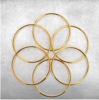 O envio gratuito de ligação cadeias de seis anéis anéis de ouro chinês magic truques magic adereços