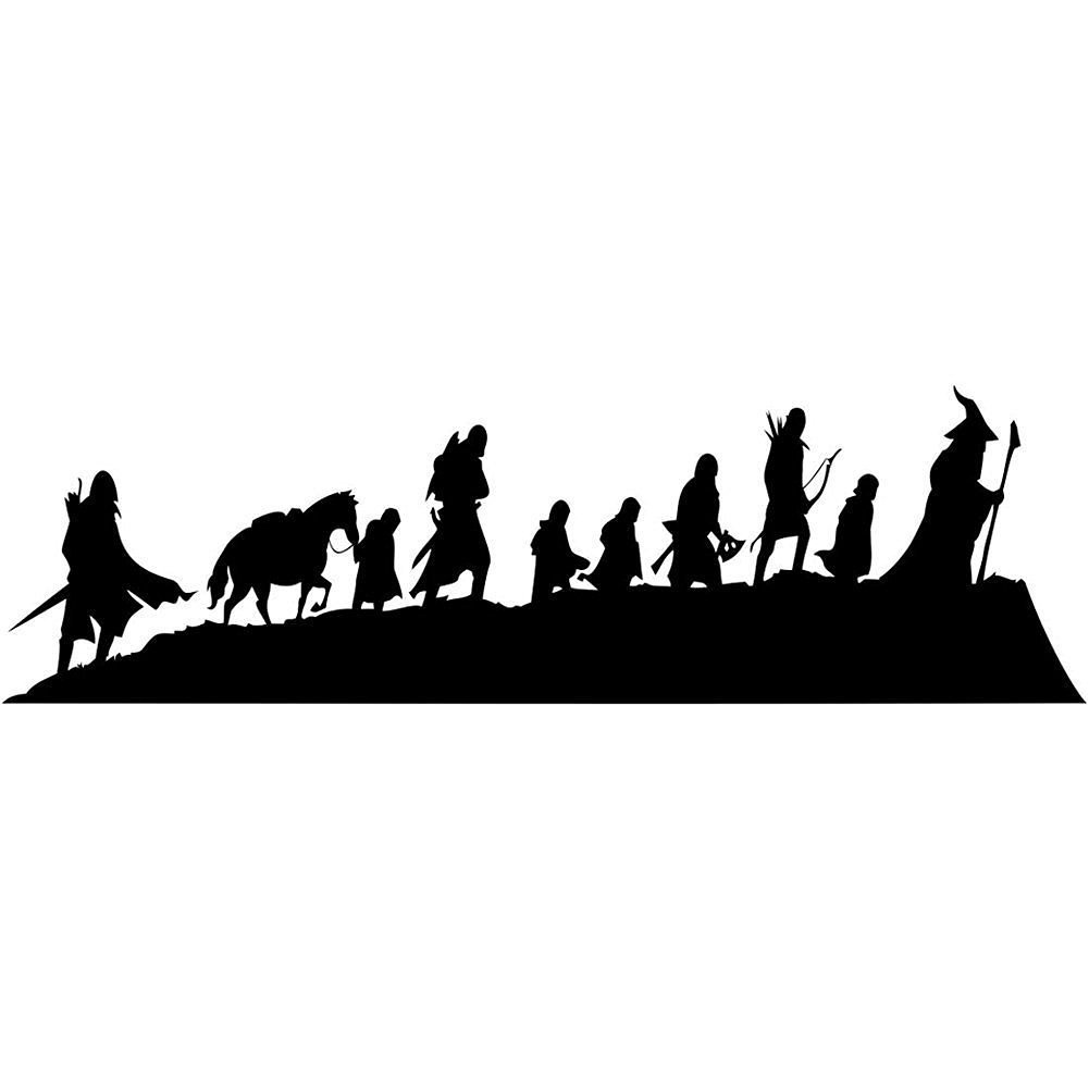 LOTR Caravan Fellowship Sticker Decal Notebook Window Laptop 20cm