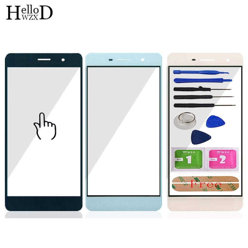 5.0 ''Avant Extérieure En Verre Pour Huawei Honor 4C Pro TIT-L01 (pas D'écran Tactile En Verre Digitizer Panneau) avant En Verre Outils Livraison Adhésif