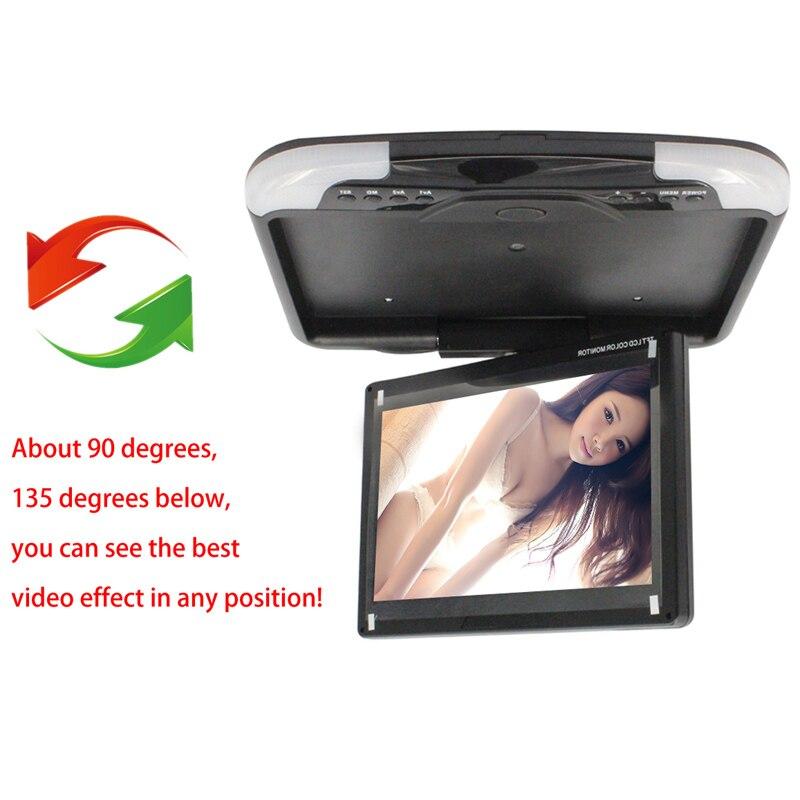 13 Car Monitor Auto Car TFT LED Digital Screen Car Roof Mounted Monitor Car Flip Down Monitors