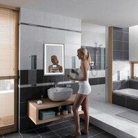 Светодиодный Ванная комната настенное зеркало для макияжа с подсветкой зеркало с подсветкой с сенсорной кнопки Vanity свет лампы зеркало для