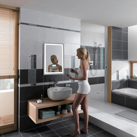 LED Bathroom Wall Makeup Mirror Illuminated Lighted Vanity Mirror Backlit With Touch Button Vanity Light Lamp Makeup Mirror HWC