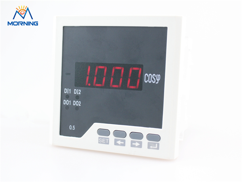 H31 frame size 96*96mm LED display single phase digital power factor meter, support switch input output and analog output me 3h61 72 72mm led display 3 phase digital power factor meter support switch input and transmitting output