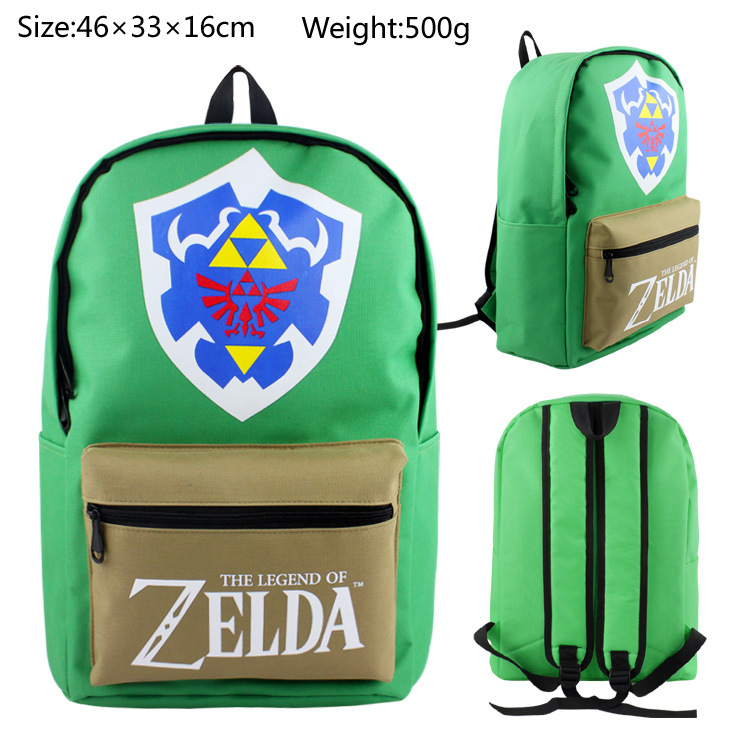 Green The Legend of Zelda Canvas backpack Bag school bag Students Bag shoulder bags anime the legend of zelda backpack bag school bag shoulder bag cosplay bag a style