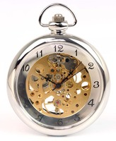 Groothandel Mini Ketting Mechanische Pocket Horloges Rose Emboss Archaized Gift
