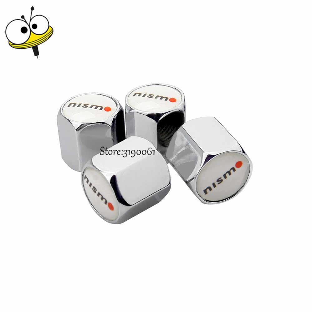 Bouchons de roue de style de voiture bouchons de tige de Valve de pneu pour Logo Nismo pour Nissan Tiida Almera Qashqai Note 350z 370z Pathfinder Xterra