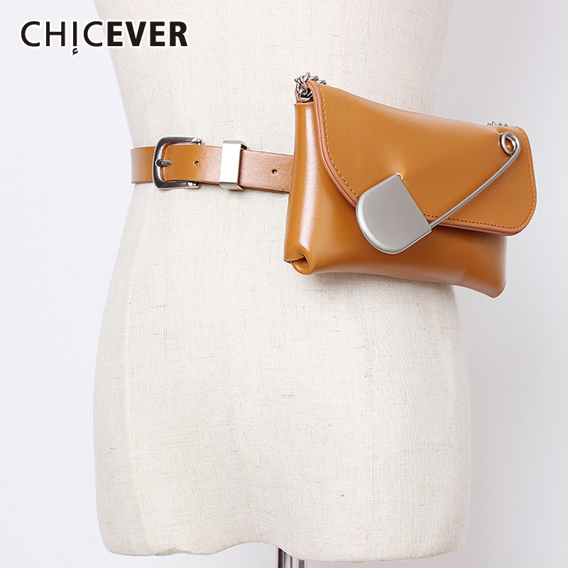 CHICEVER 2020 Summer PU Belt For Women High Waist Vintage Dresses Accessories Chain Patchwork Bag Belts Female Fashion New Tide