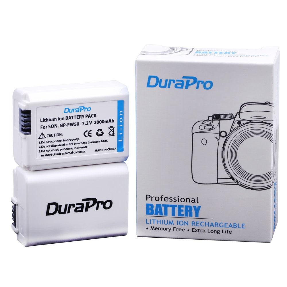 Batterien Digital Batterien Diszipliniert 2 Stück 2000 Mah Np-fw50 Np Fw50 Batterie Für Sony Alpha A33 A35 A37 A55 Slt-a33 Slt-a35 Slt-a37 Slt-a37k Slt-a37m Slt-a55 Slt-a55v