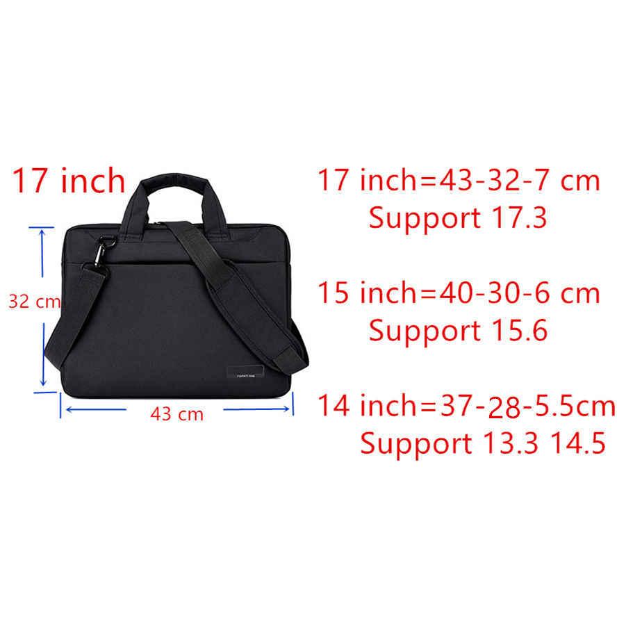 ラップトップバッグ17.3 17 15.6 15 14 13 12インチナイロンエアバッグ男性コンピュータバッグファッションハンドバッグ女性ショルダーメッセンジャーノートブックバッグ