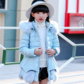 2016 new children down jacket thicken winter long thick warm girl big hooded fur collar Korean children's baby coats girls coat