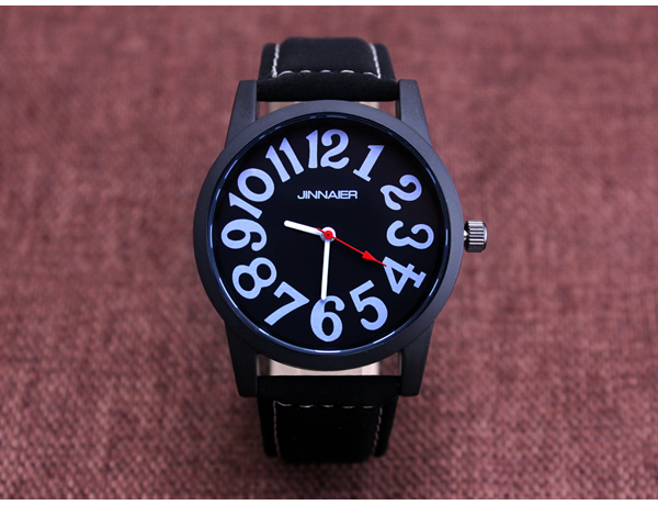 Jinnaier  Leather Strap Wrist Mens Womens Watches Online Fashion Lover's Wristwatches Fashion Quartz Watch Clock Movt