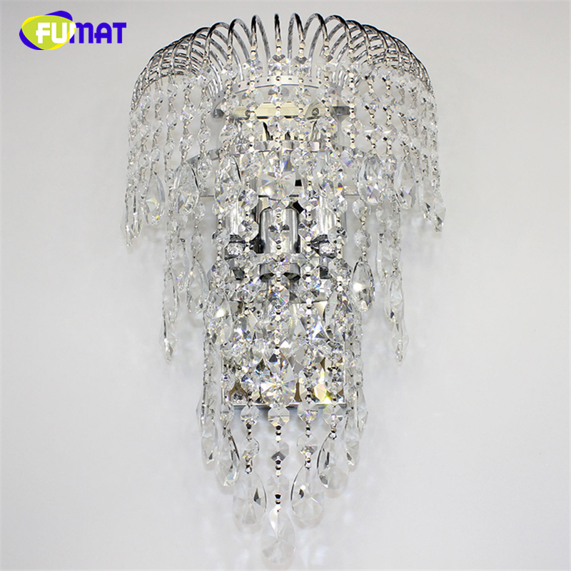 FUMAT K9 Crystal Wall Lamp Sconces Modern Brief Living Room Bed Room Wall Lights Bar Hotel Project Lustre LED Crystal Wall Lamps soar cowhide genuine leather bag designer handbags high quality women shoulder bags famous brands big size tote casual luxury