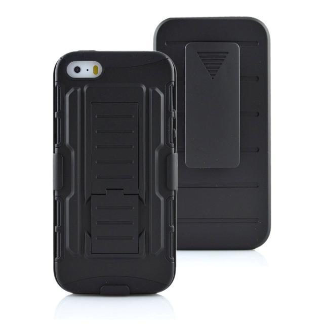 Heavy Duty Robot Shockproof Case For iPhone 7/7 Plus/6/6S/6 Plus with Holster Belt Clip Stand Armor Robot 2 in 1 Case Phone Bag