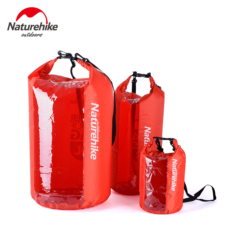 Naturehike Ultralight Waterproof Rafting Bag Dry 3 Colors Outdoor Swimming Nylon Kayaking Storage Drifting Bag 5L 20L 60L