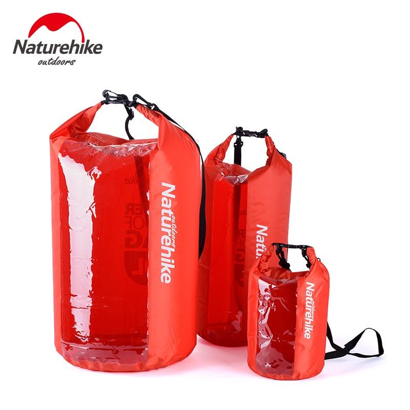 Naturehike Ultralight Waterproof Rafting Bag Dry 3 Colors Outdoor Swimming Nylon Kayaking Storage Drifting Bag 5L 20L 60L