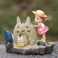 1pcs Studio Ghibli My Neighbor Totoro Toy Resin Sandy Beach Totoro Mei Fairy Action Figure Toy Gifts for Garden Home Decor