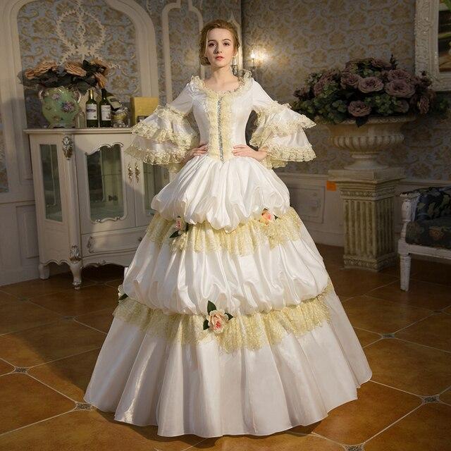 White royal court dress