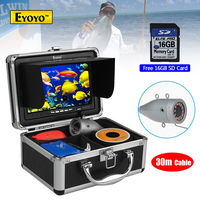 EYOYO 16GB 30M 7 Infrared 1000TVL Fish Finder Fishing Camera DVR Recorder Boat Free Shipping
