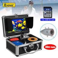 EYOYO 16GB 30M 7 Infrared 1000TVL Fish Finder Fishing Camera DVR Recorder Boat Free Shipping