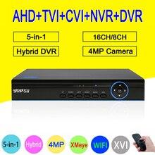 Blue Ray Hi3531A 4MP 16CH 16 Channel 6 in 1 WIFI Hybrid TVi CVI NVR AHD