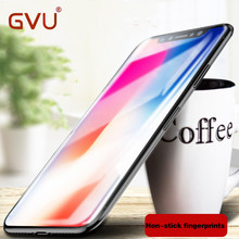 GVU 3D Screen Protector Tempered Glass For iPhone X Soft Edge Full Cover Toughened Protective Glass Film For iPhone 10 X Glass