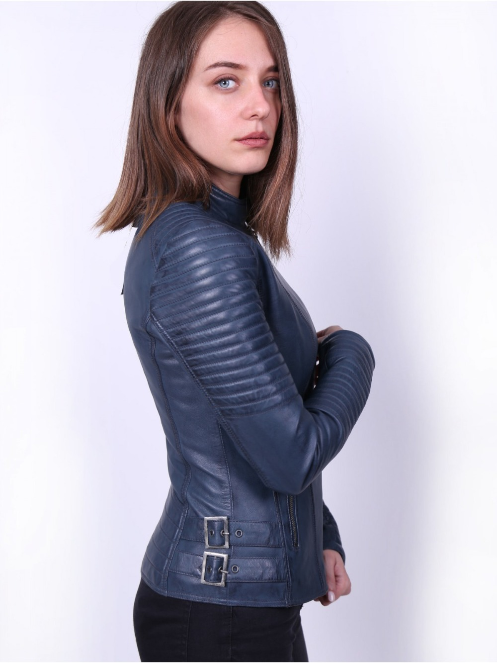 VAINAS Brand Julie High Quality Women Genuine Leather Jacket For Women Real Leather Jacket Motorcycle Jackets Biker Jackets