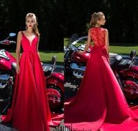 Daria Karlozi 2017 A Line Prom Dresses Appliques Delicate Sash Evening Dress Sweep Train Paolo Sebastian