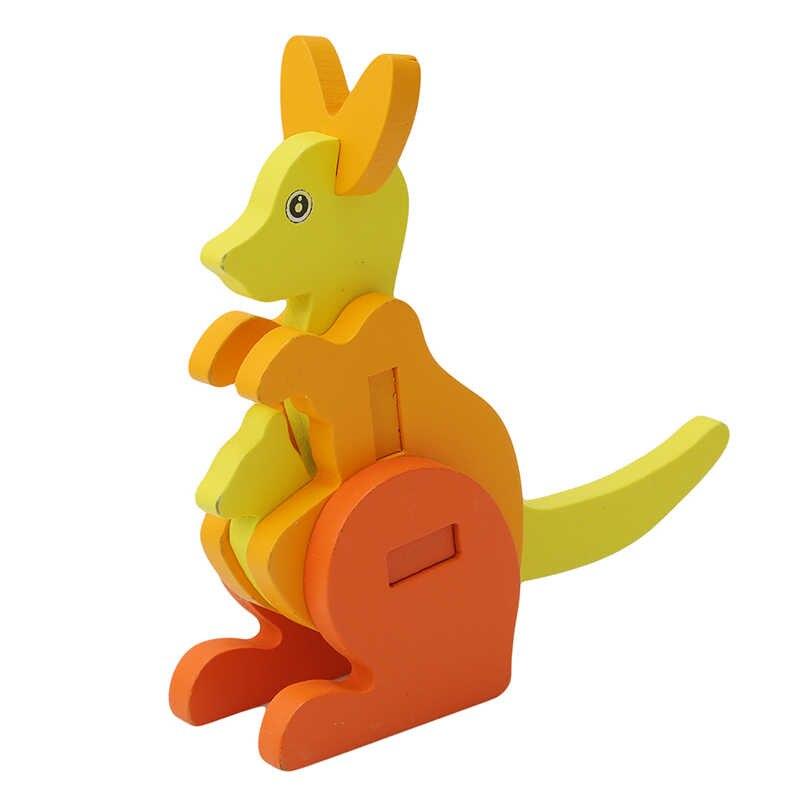 Мультяшные детские игрушки в виде животных сова модель 3D Пазлы деревянные пазлы Дети обучающая развивающая игрушка для детей ручной работы DIY игрушки