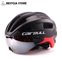 Ultra light 235g Goggles Cycling Helmet Road Mountain MTB Bicycle Helmet In mold Bike Helmet With Sun Visor Helmet M54 58cm