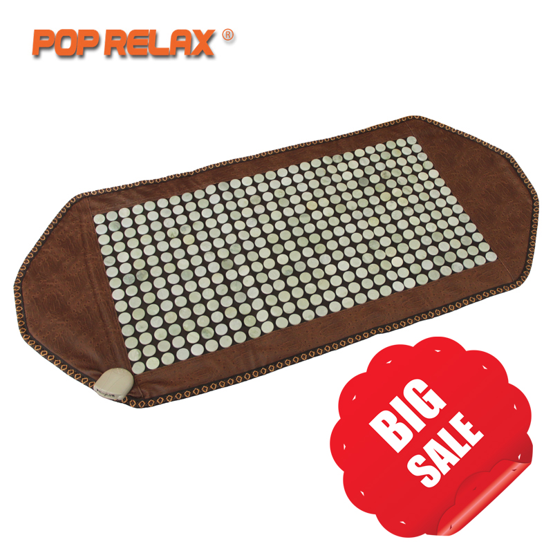 POP RELAX Natural Jade Heating Mattress Health Care Far Infrared Thermal Physical Therapy Pain Relief Jade Stone Mat pop relax electric vibrator jade massager light heating therapy natural jade stone body relax handheld massage device massager