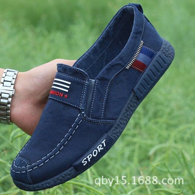 ผ้าใบรองเท้าผู้ชาย Denim Lace - Up Casual รองเท้าใหม่ 2017 รองเท้ากีฬา Breathable ชายรองเท้าฤดูใบไม้ผลิฤดูใบไม้ร่วง 88