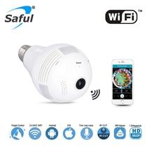 Saful Wireless IP Camera Wifi Home Security Bulb Light hot sale 1.3MP 960P 360 Degree Panoramic P2P Audio Surveillance Camera