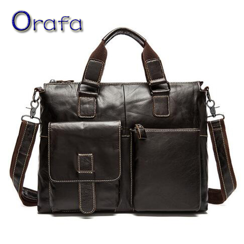 ФОТО Genuine leather business bag men messenger bags 2016 fashion document briefcase real leather man office bag designer briefcase