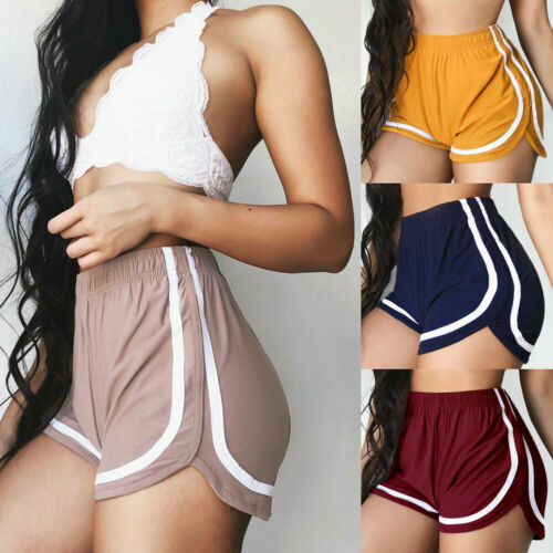 New Summer Shorts Women Casual Sexy Fitness Workout Waistband Skinny Short Elastic Waist Running Breathable Cotton Short Pants
