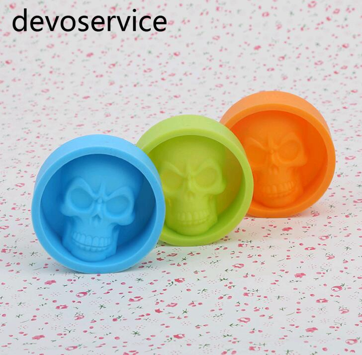 Skull Muffin Skeleton Head Mould Styling Candy Jelly Fondant Decorating Pastry Chocolate Ice Non Stick Moulds Baking Tools