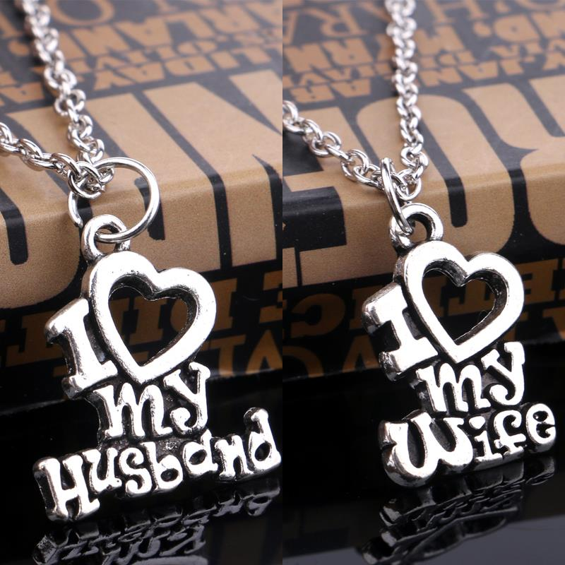 Best Gift For My Wife Part - 17: Christmas Gift I Love My Wifeu0026Husband Charm Pendant Necklace Jewelry Gift  For Men Womenu0027s/Valentineu0027s