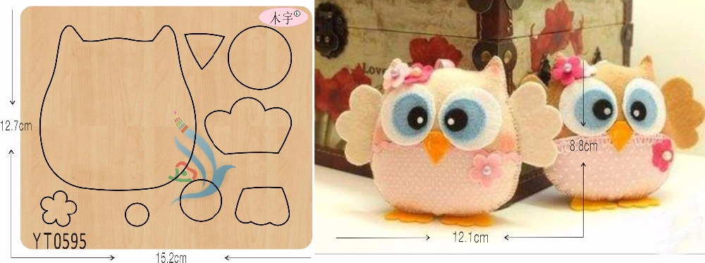 Lovely Owl-8 DIY New Wooden Mould Cutting Dies For Scrapbooking Thickness/15.8mm/YT0595