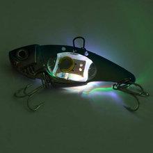 Deepwater Fishing Lure LED Light Bait Fish Crankbait Lamp 2 Colors