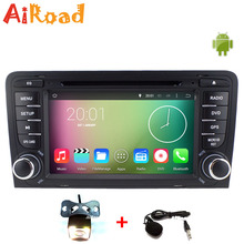 RK3188 Quad Core 1024*600 Pure Android 4.4 Car DVD GPS for Audi A3 S3 RS3 in Car Navigation Headunits Autoradio Mirror Link OBD