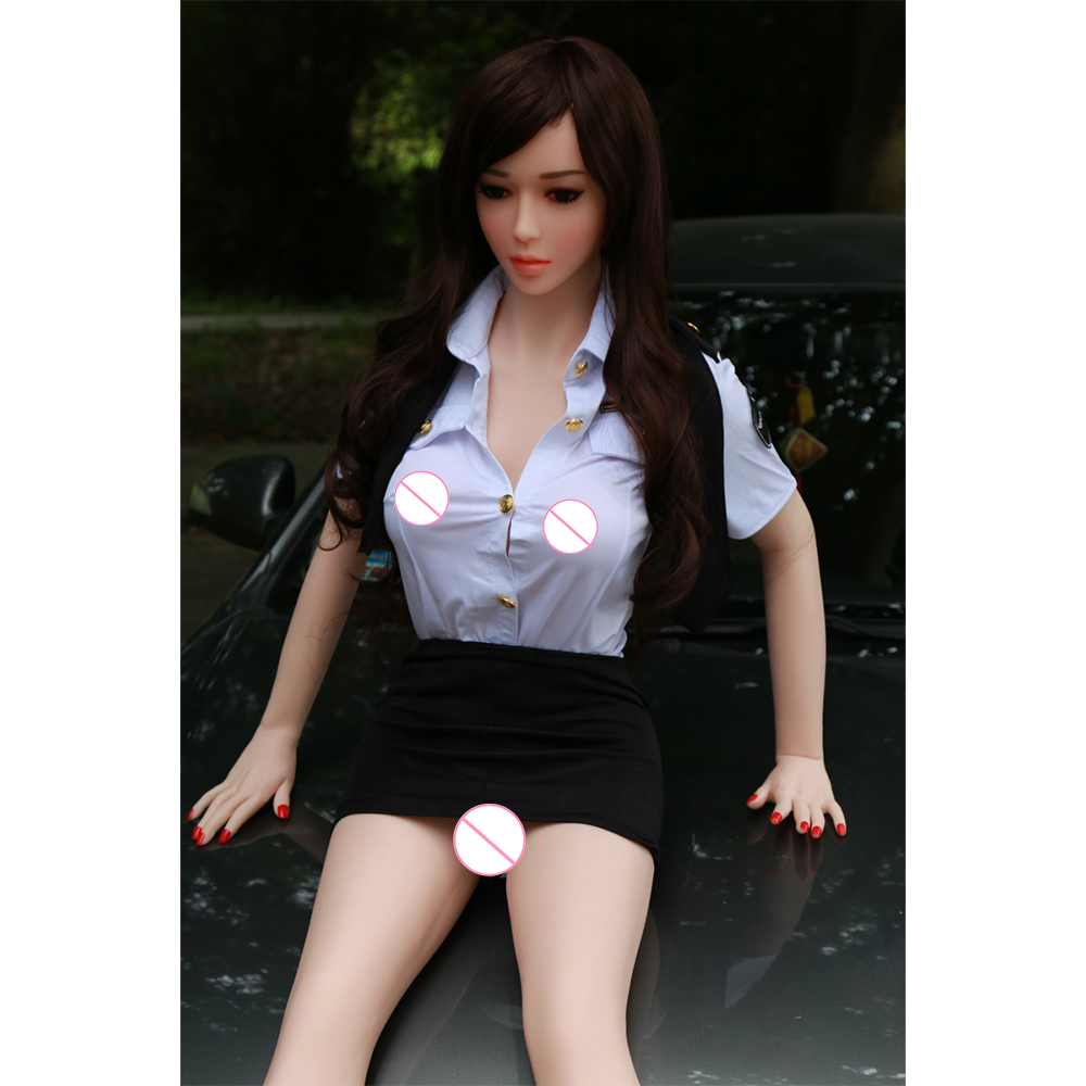 Curvy Big <font><b>Boobs</b></font> <font><b>Sex</b></font> Dolls Stewardess 158cm 5ft 2.2in tpe Silicone Love Doll Real Doll with Customize for Adult Men <font><b>Toys</b></font> image