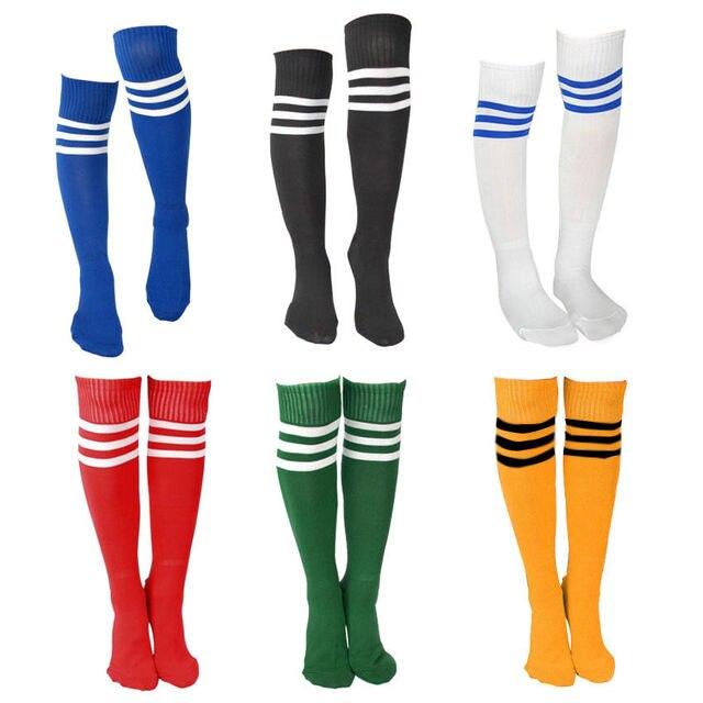 d46578f118a2e Para mujer para hombre 3 de la raya calcetines árbitro medias de fútbol  Socker medias de