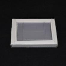 10 PCS Carton Inner Inlay Insert Tray Case retail transparent Plastic box Protector PET for PAL NTSC SNES Game Cartridge