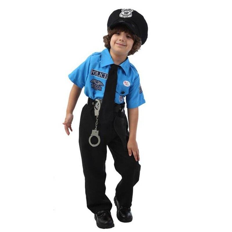 Çocuklar Cadılar Bayramı Polis Kostümleri çocuk Günü Erkek - Kostümler - Fotoğraf 4
