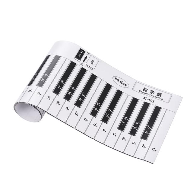 88 Keys Piano Practice Chart Fingering Version Piano Keyboard