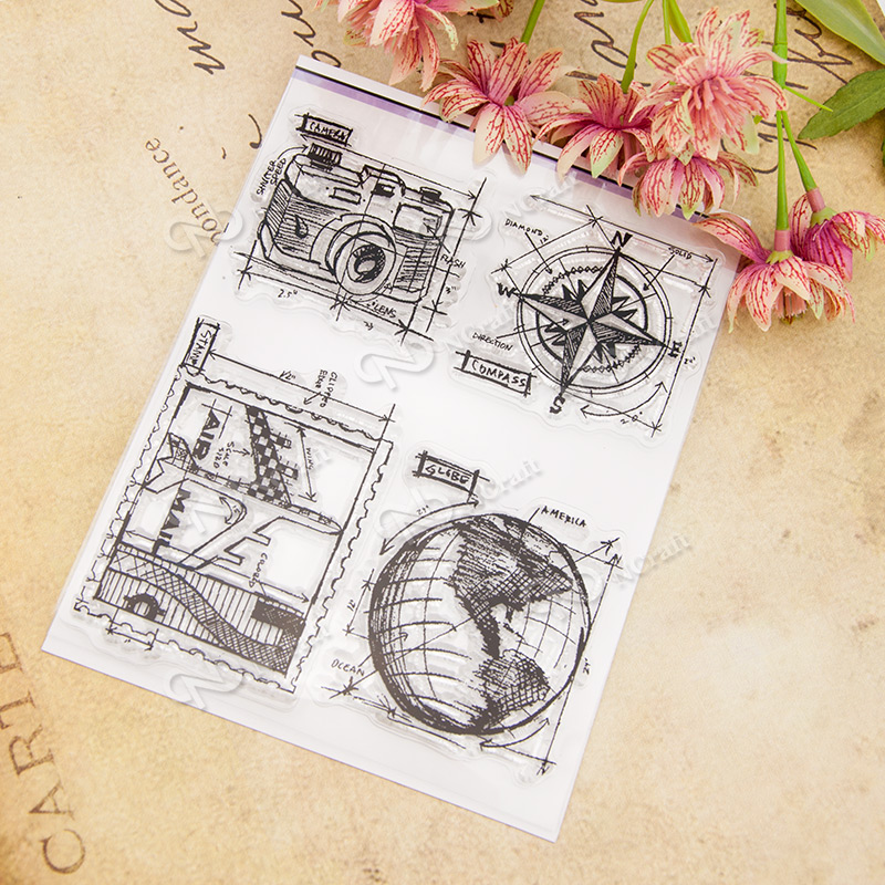 Clear Stamp Scrapbook DIY photo album card hand account chapters rubber product transparent seal 13x16.5CM T-0234 lovely animals and ballon design transparent clear silicone stamp for diy scrapbooking photo album clear stamp cl 278