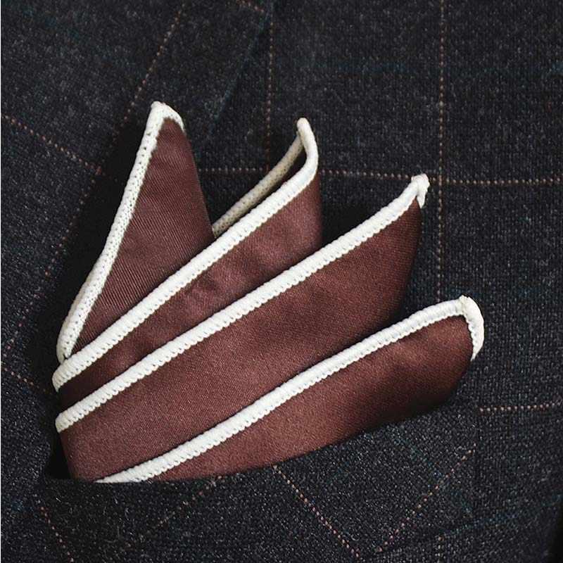 JEMYGINS オリジナル固体多色ファッションポケット正方形の高品質ハンカチアクセサリー紳士用スーツパーティー