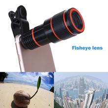 Hot Sale 12X Zoom Fisheye Camera Optical Photo Lens Telescope Lens For Iphone Samsung Xiaomi Huawei Smartphone